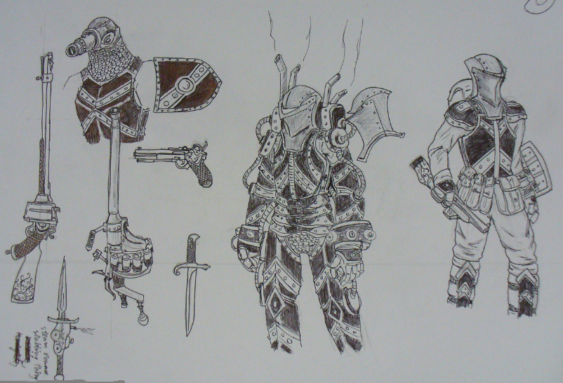 Steam Punk Sketch Dump by Angryspacecrab