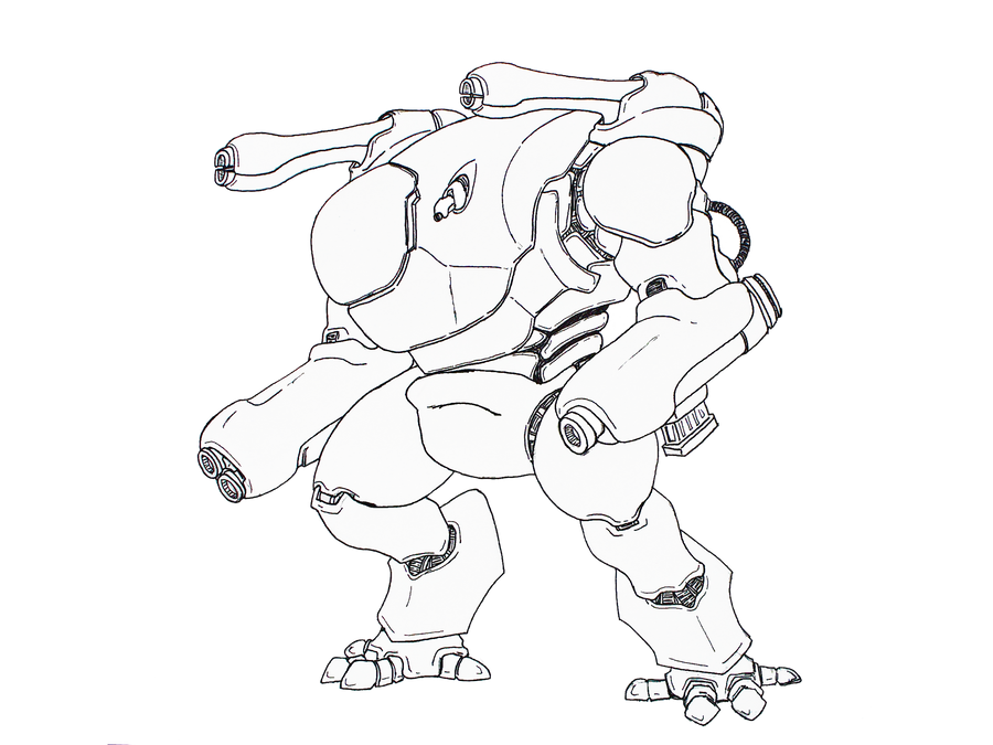 Badger Heavy Assult Mech by Angryspacecrab