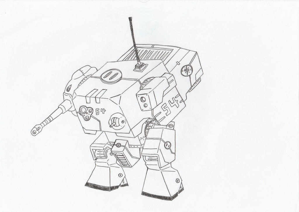 Solomon Tank Mech by Angryspacecrab