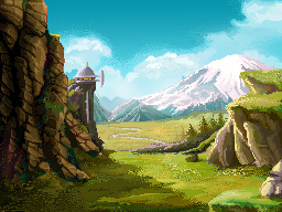 Day background for mobile game by deepppkr