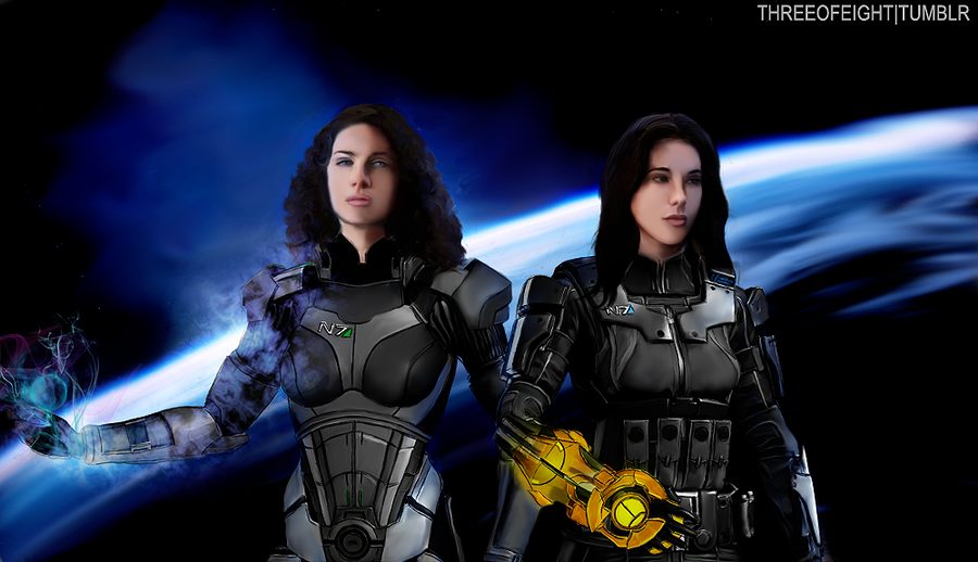 N7 Bering and Wells by twisted-illusion-666
