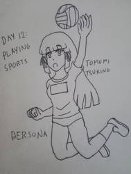 Inktober2019 Day 12: Playing Sports