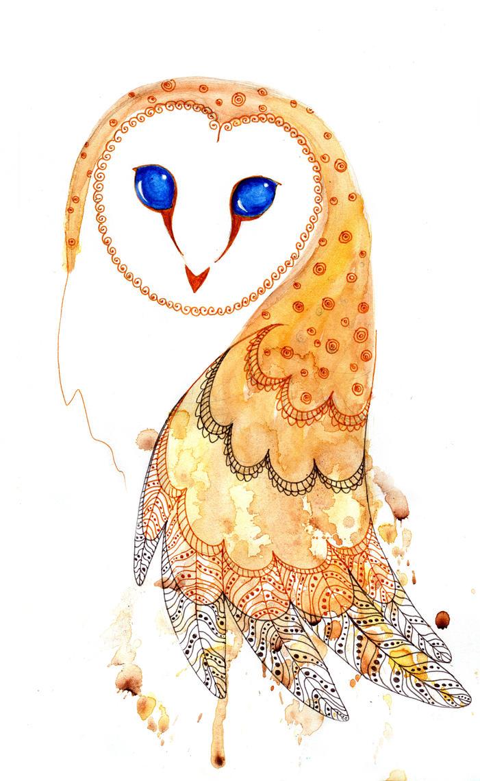 screech-owl by Debrarium