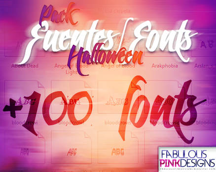 Pack Halloween FUENTES-FONTS