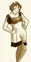 1920's Flapper Elf sepia