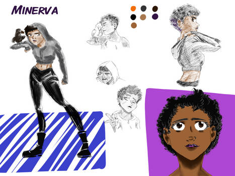 Minerva Character Sheet Commission