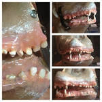 Wolf Human Mutant Teeth - Painted by Anesthetic-X