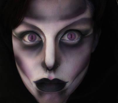 Female Grim Reaper Face Paint
