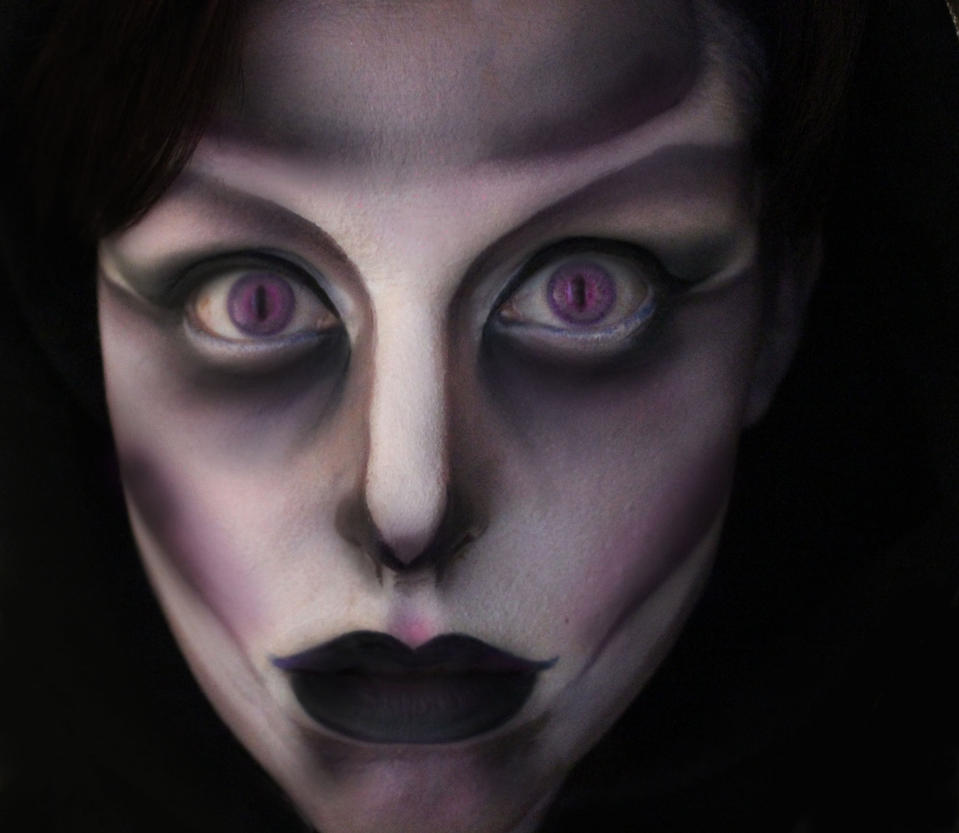 Female Grim Reaper Face Paint by Anesthetic-X