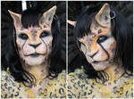 Mutant Cat Girl Makeup