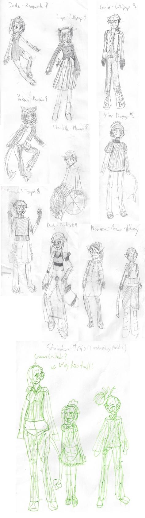 January 2015 Sketch Dump by Kittycara