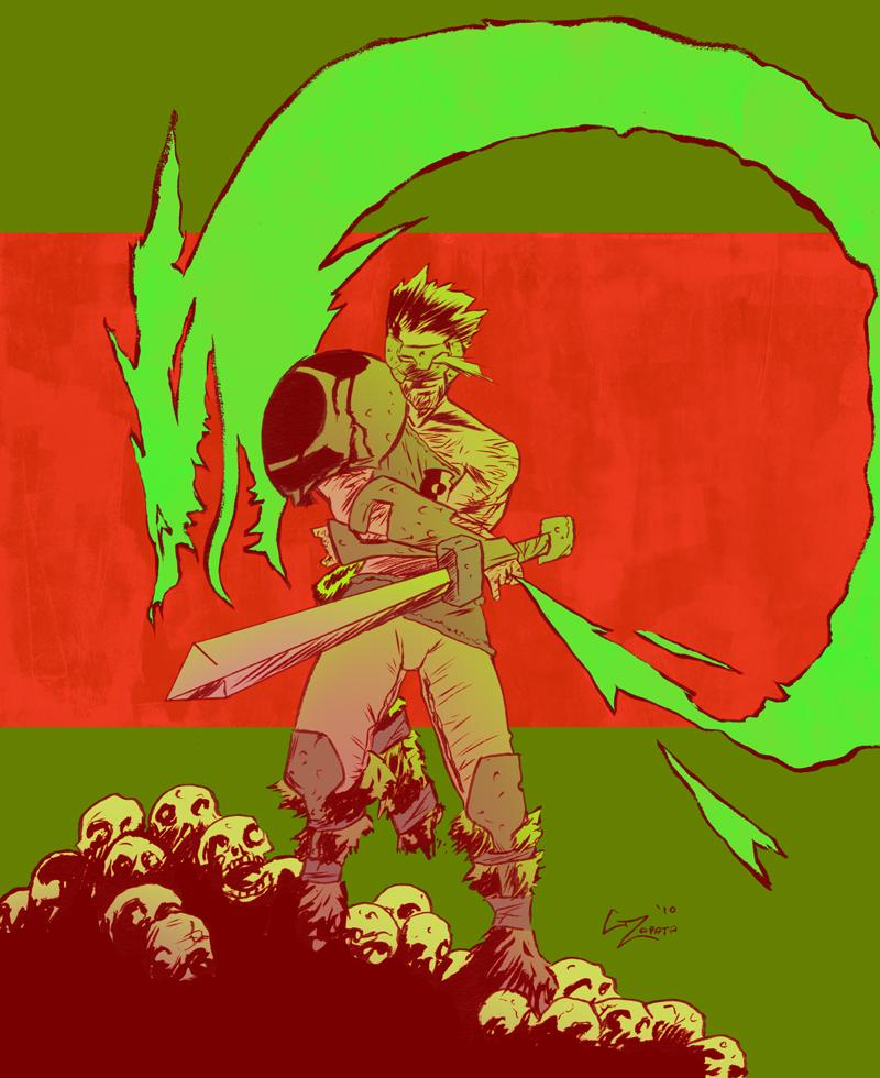 Green Lantern Hyborian Age by gzapata