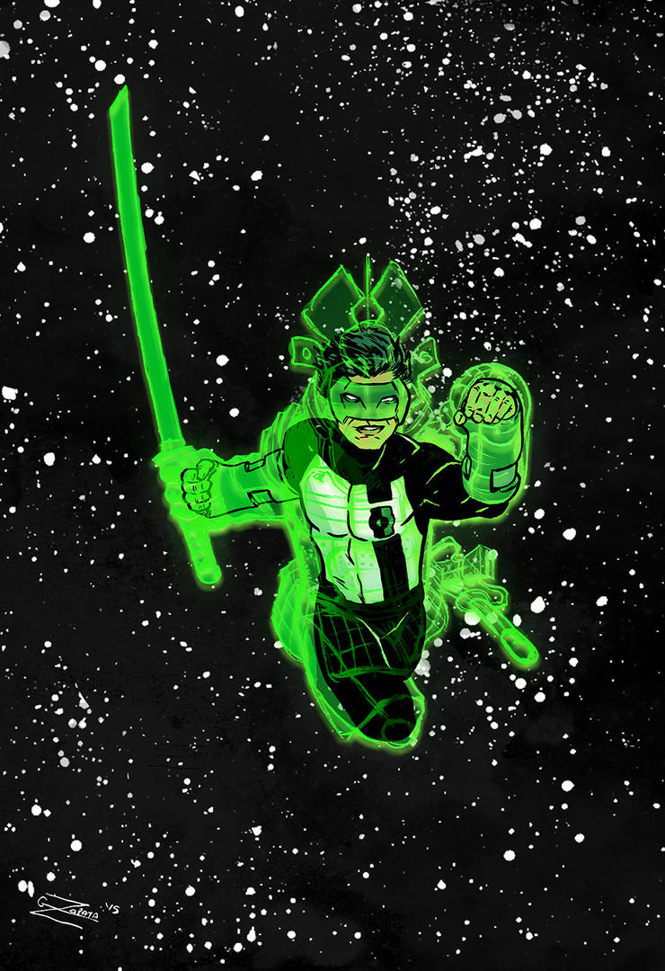Samurai Kyle Rayner by gzapata