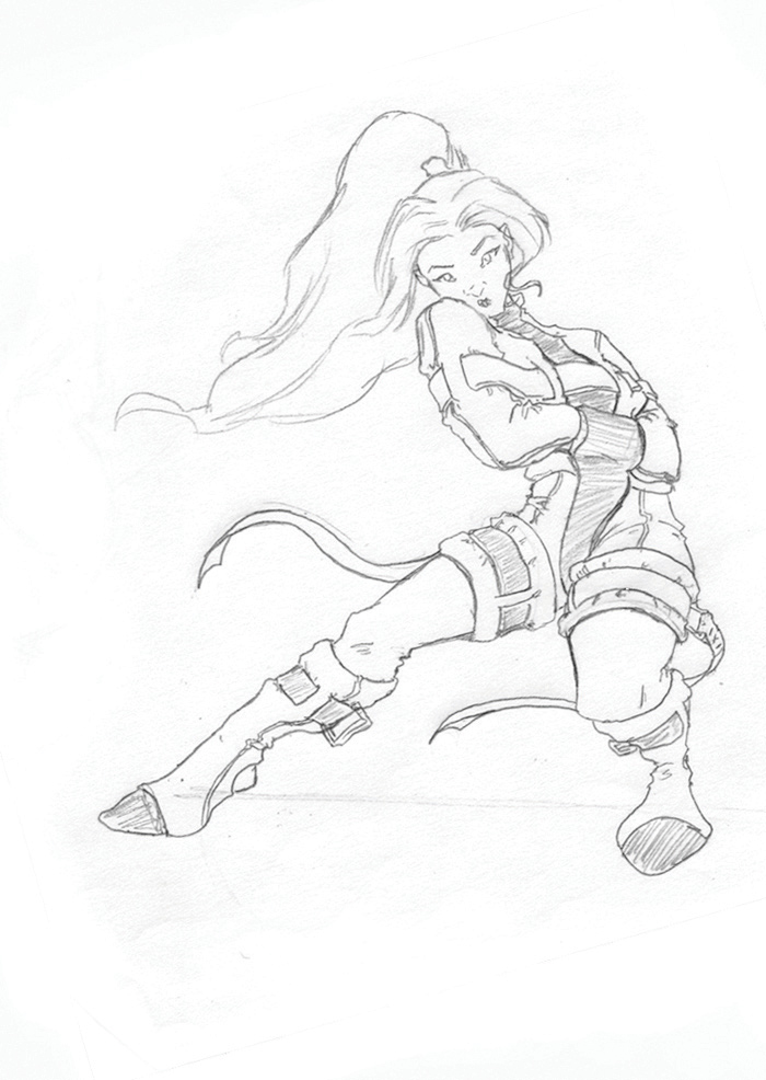 Straight Jacket Gurl Sketch By Gzapata On DeviantArt