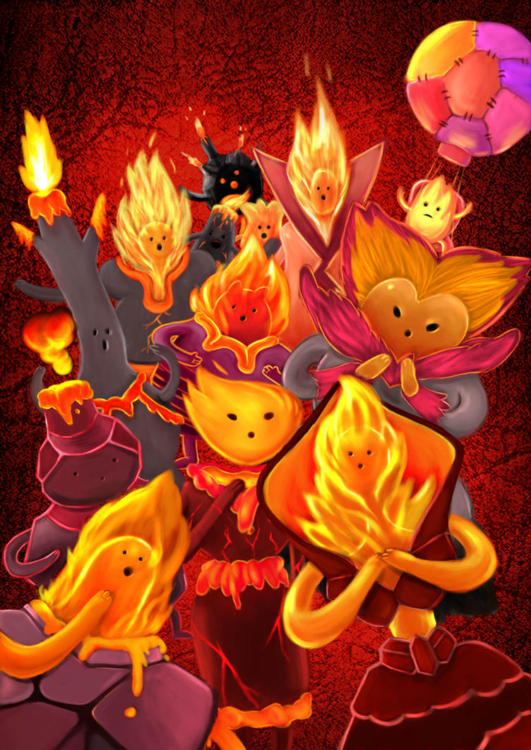 Fire Kingdom People Color by Artzmat