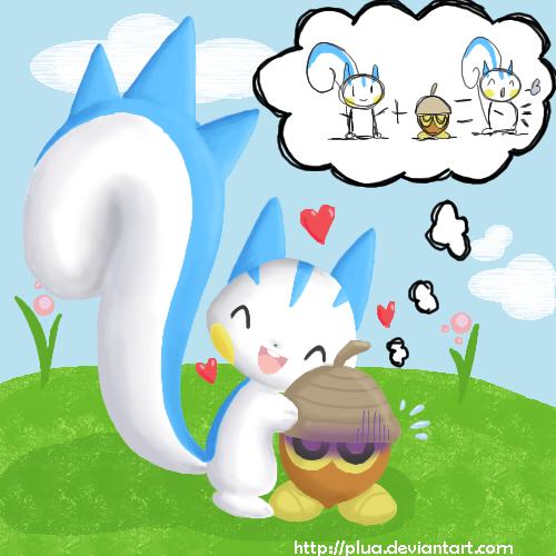 Qual pokémon é mais fofo?  - Página 3 Pachirisu_loves_Seedot_by_Plua
