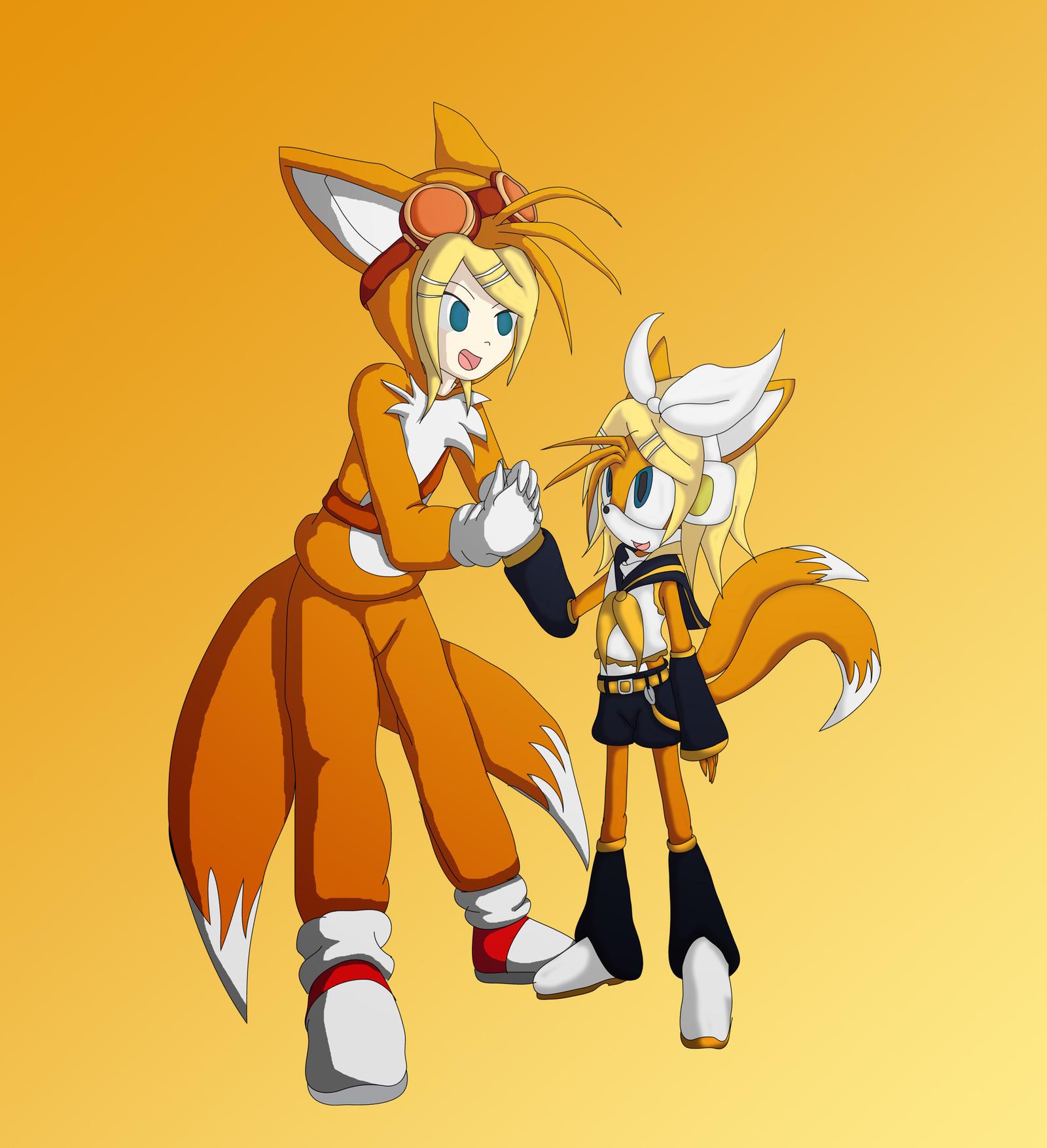 Rin x Tails = TaiRin: Double Cosplay by Skye-Izumi