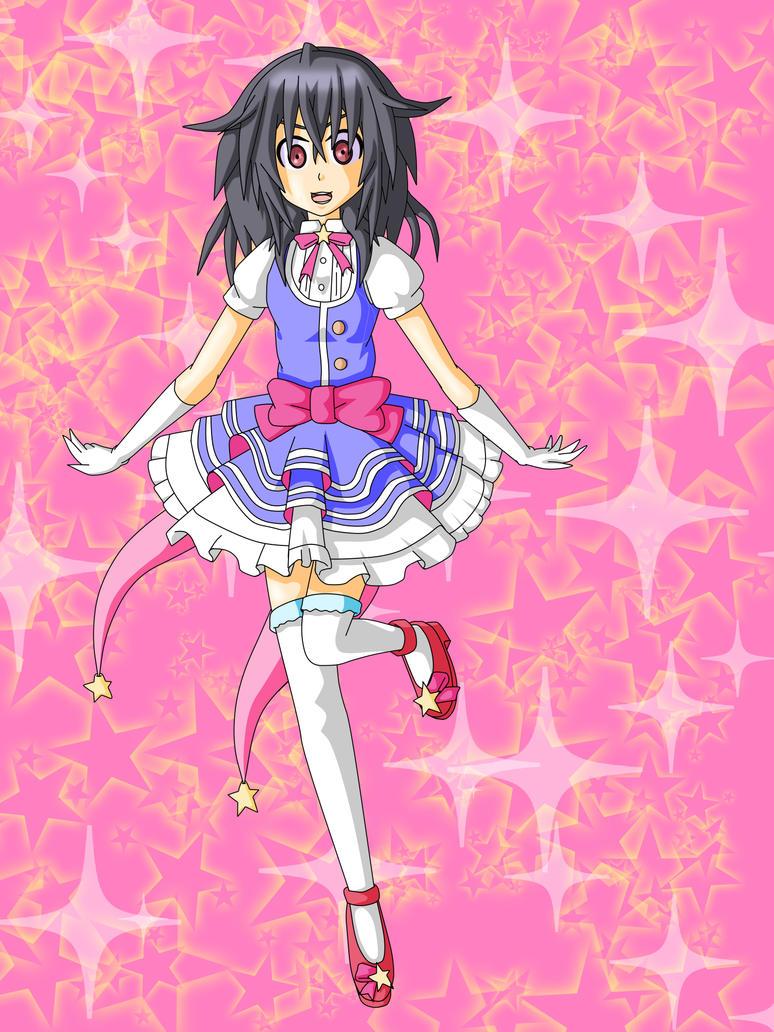 Nenito: Wearing Neptune's idol Costume by Skye-Izumi