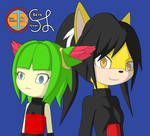 Cosmo the Seedrian and Honey the Cat by Skye-Izumi