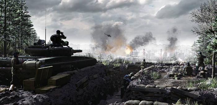 Overlook over Grozny