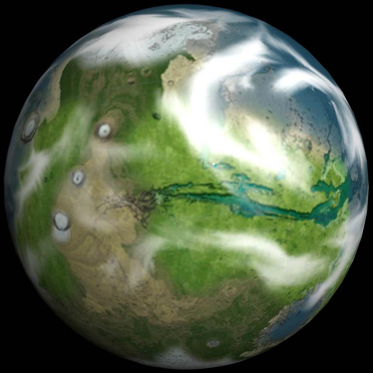 Terraforming Of Mars: Terraformed Mars Spherical By Quanto On DeviantArt