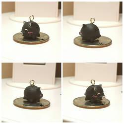 Pig Keychain Charm by Hewearthbound