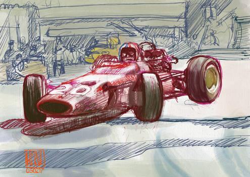 Chris Amon 1967 Monaco