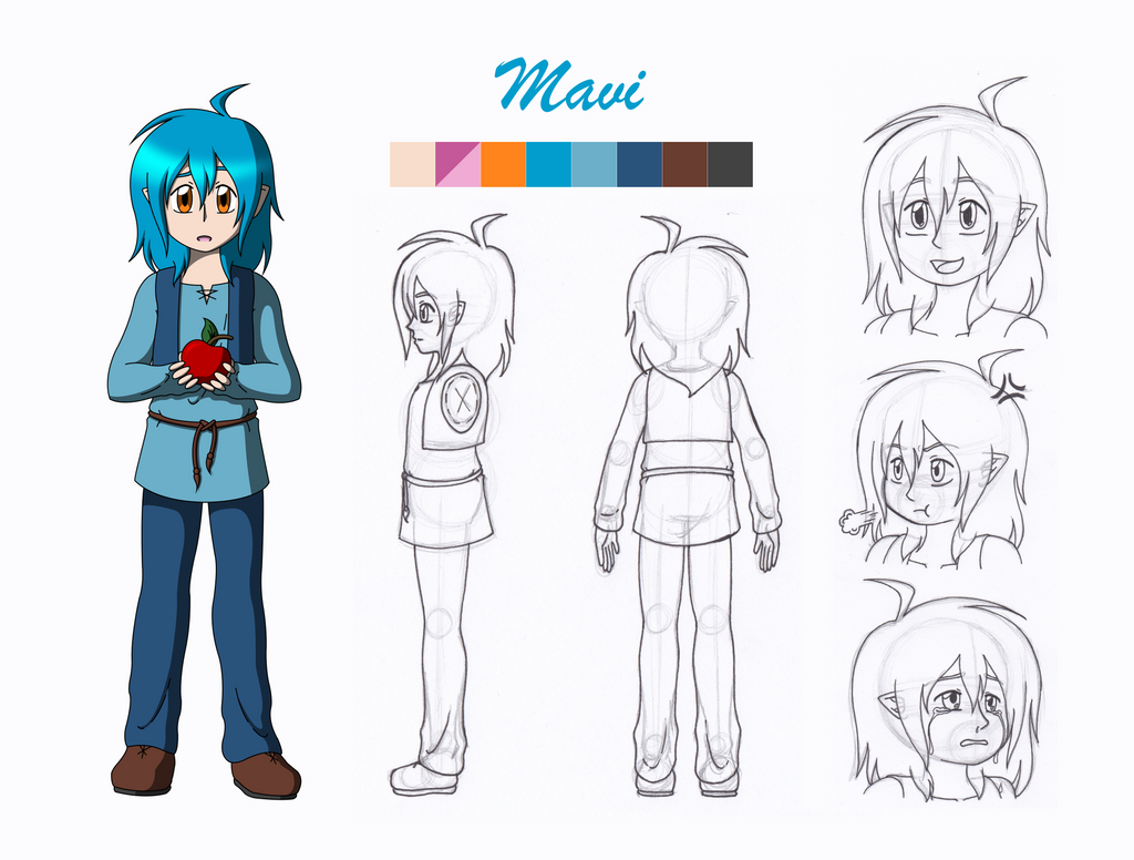 College For Character Design : College character design project mavi final by wren