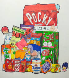 Japanese Snacks by MARNIXE