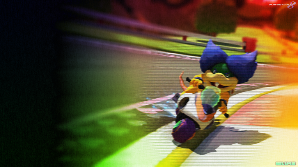 mario kart 8 wallpapers ludwig on royal raceway by