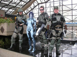 Cortana and the Boyz by msventress