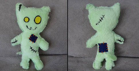 Zombie Cat Plushie by Kurayami24