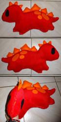 Dinosaur plushie by Kurayami24