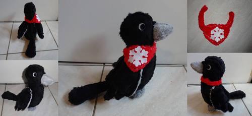 Snow's Raven Plush by Kurayami24