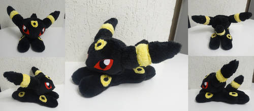 Umbreon plush (Noctali) by Kurayami24