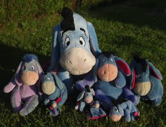 My Eeyore family x3 by Kurayami24