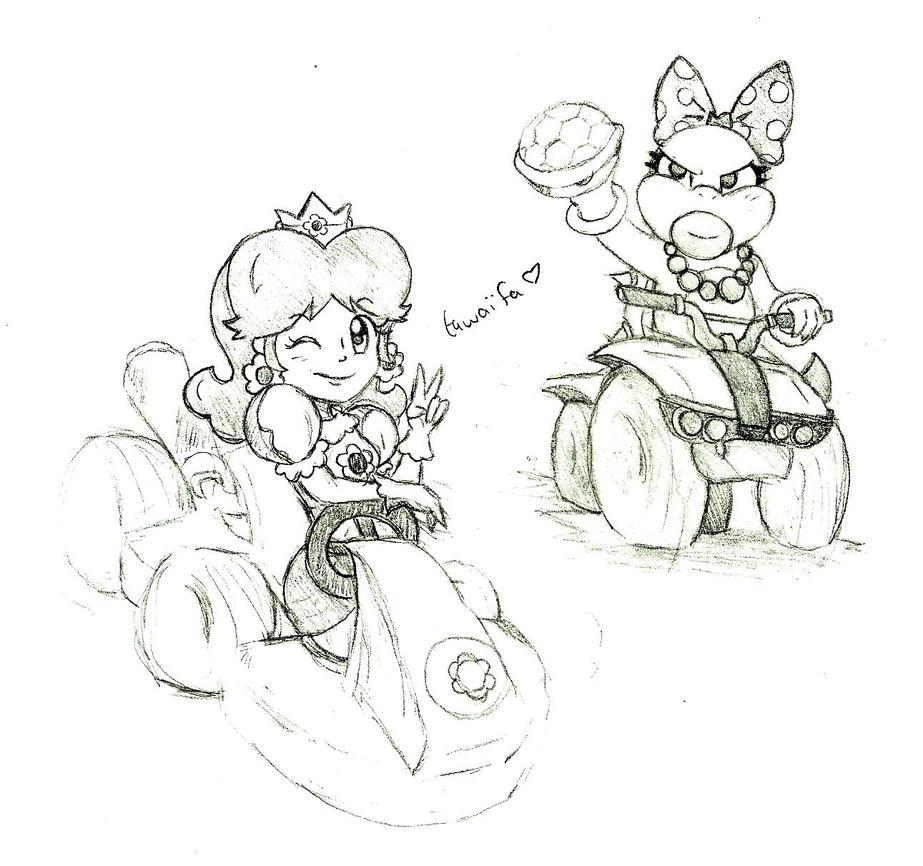 Mario Kart 8 doodles by SuperTawaifaQueen