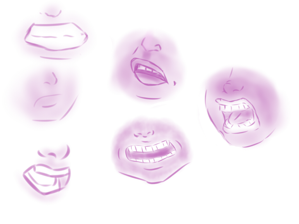 angry expression - lips - sketch/practice by Owlwishes-Oak
