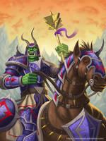 Orc Horseman by RenMoraes