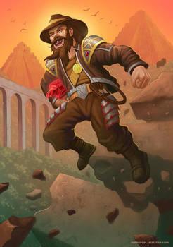 Dwarf adventurer.