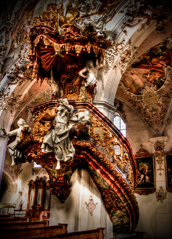 rottenbuch abbey pulpit by Ditze