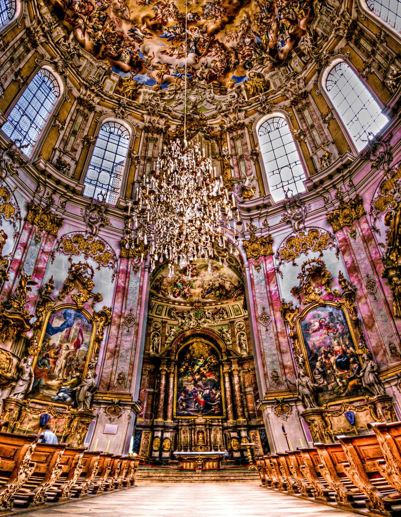 Ettal abbey inside by Ditze