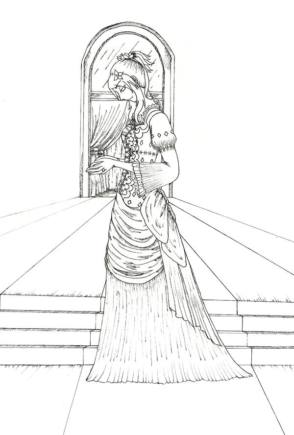 Line Drawing Dress : Aixur dress line art by ginkouri on deviantart