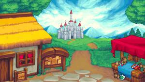 Castle Scene by StavaEY