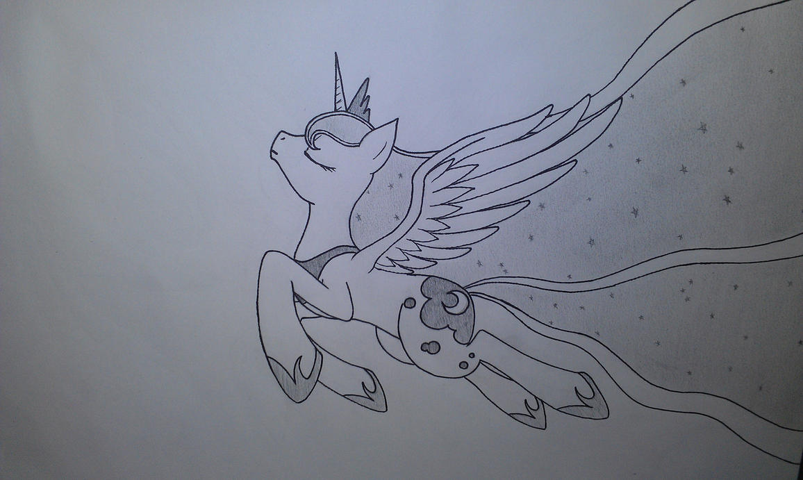 Princess Luna, flying and stuff. by Aydork