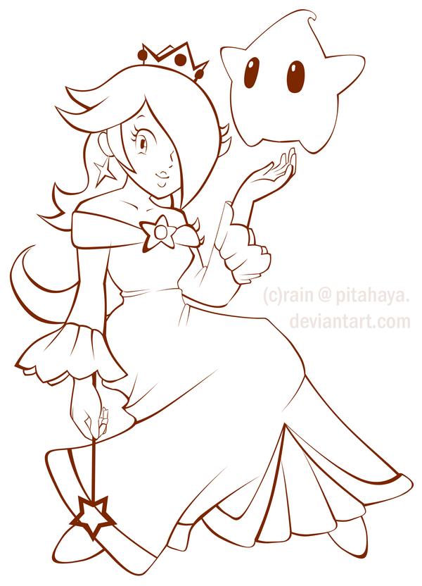 princess rosalina lineartpitahaya on deviantart