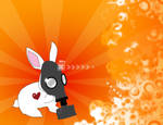 Bunny with Gas Mask