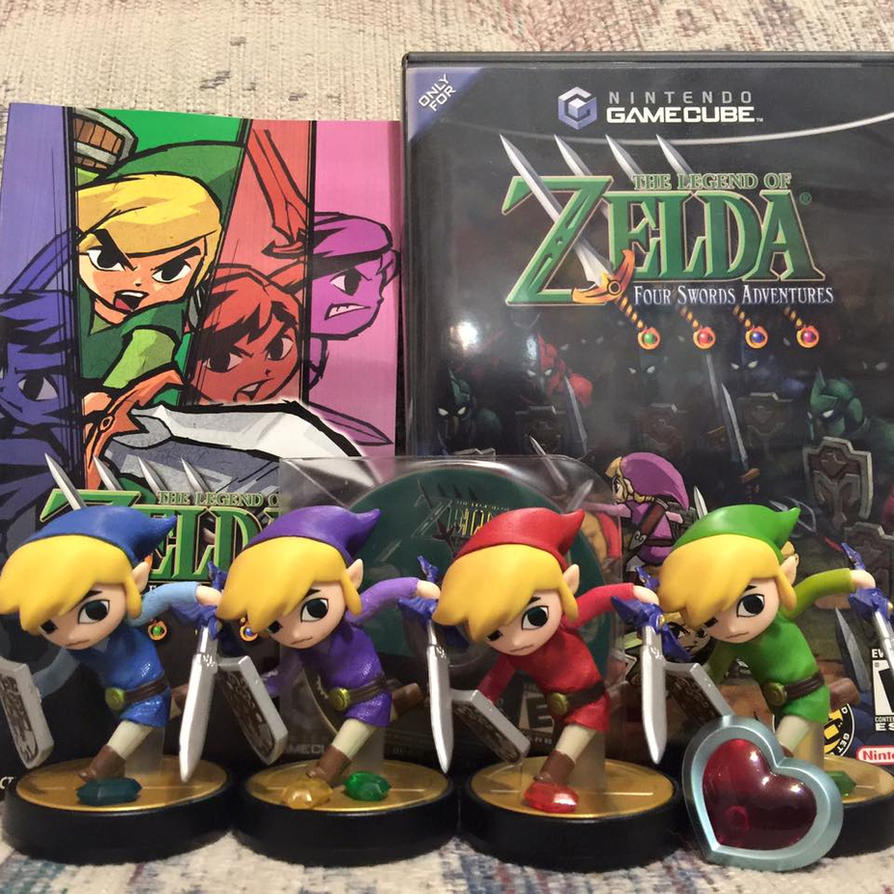 Four Swords Adventure Toon Link Alt Custom Amiibos by Mastershambler