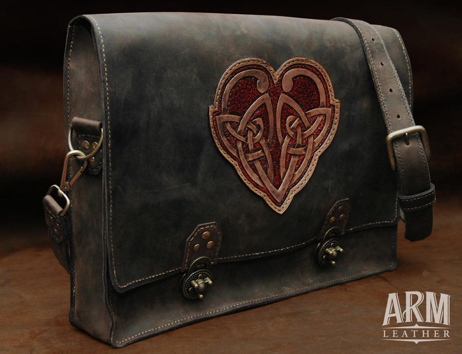 Celtic Heart 1 by Blackthornleather