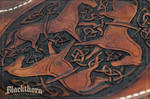 Celtic Horses Tooling Detail
